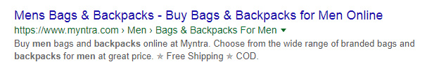 Meta Descriptions Examples for E-commerce