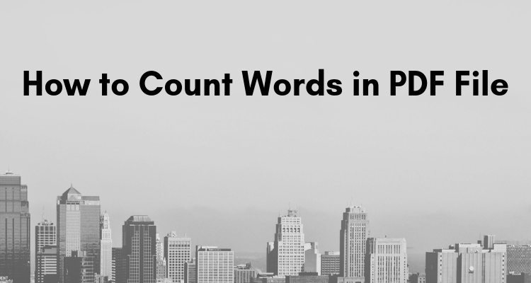 how to count words in pdf file